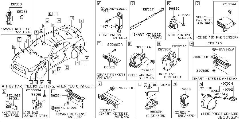 25070-CD00A - Nissan Engine Oil Pressure Switch. DASH ...