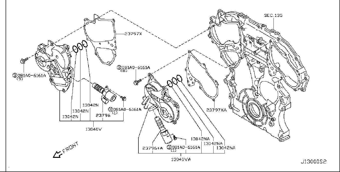 23796-JK24B - Nissan Engine Variable Valve Timing (Vvt ...